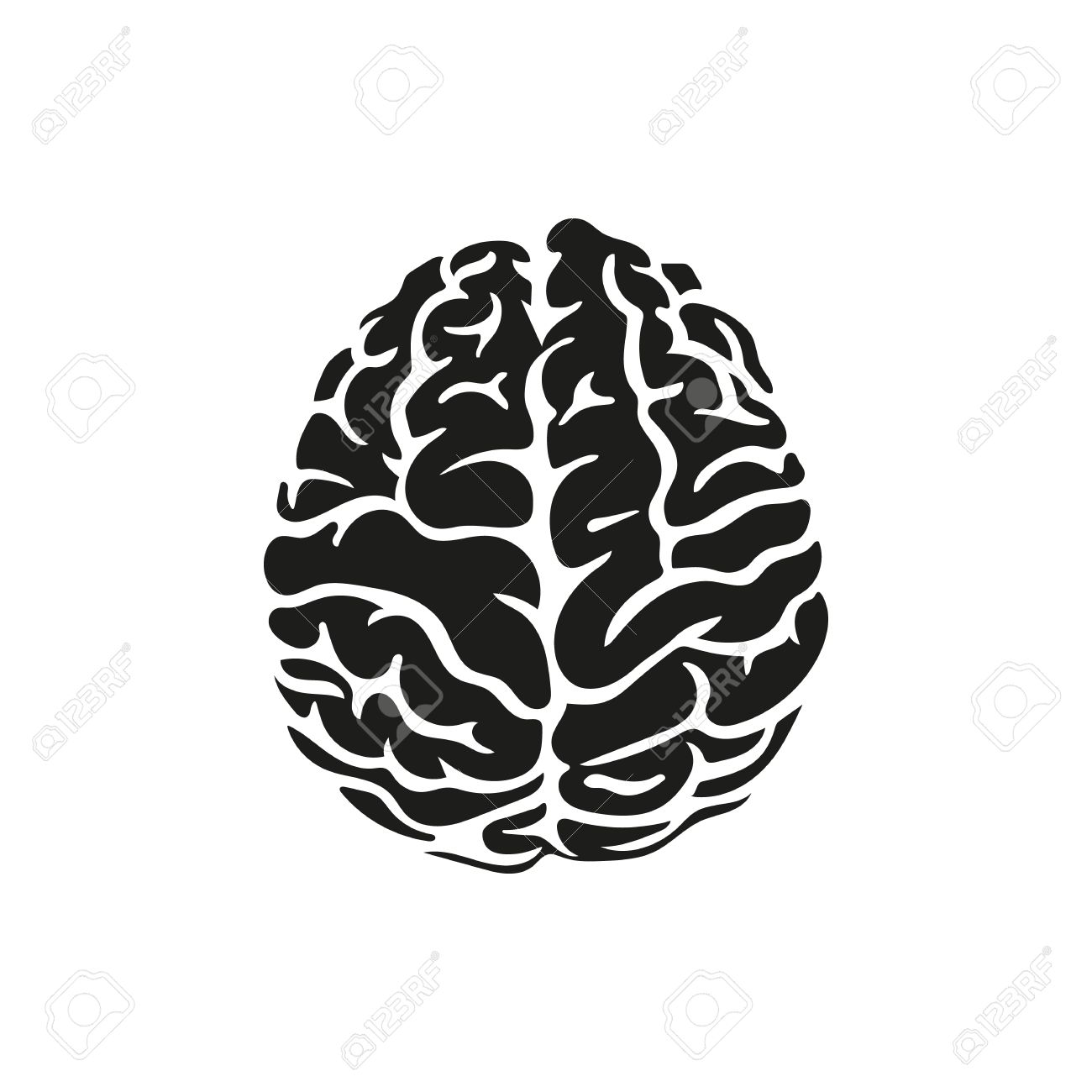Brain Drawing Simple