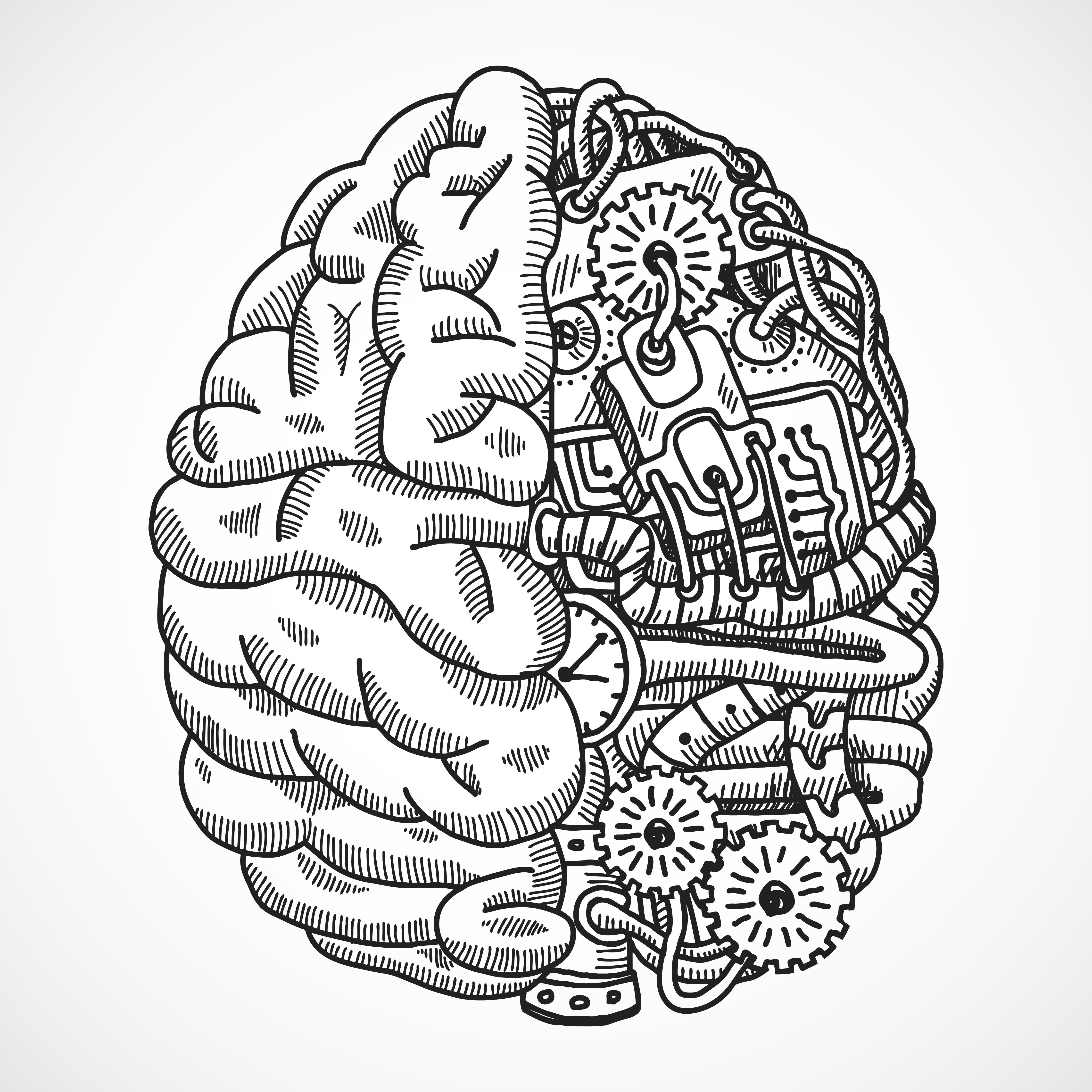4500x4500 Brain Drawing Tumblr