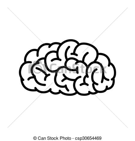 450x470 Outline Human Brain. Vector Illustration Of Human Brain In Clip
