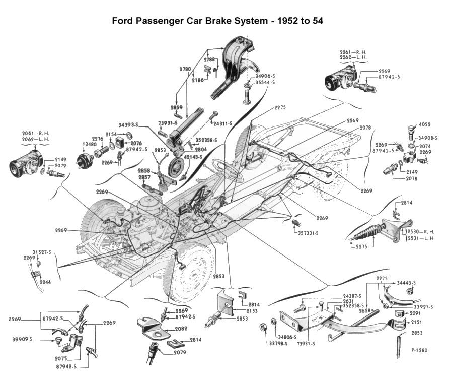 892x758 Flathead Parts Drawings Brakes