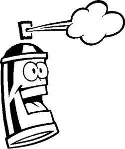 251x300 Girly Brass Knuckles Graphic Spray Can Sticker [Graphic Spray