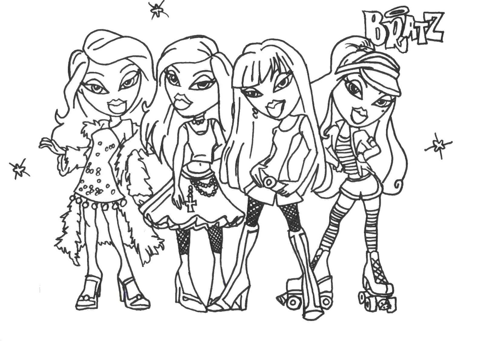 1600x1138 Free Printable coloring pages of bratz dolls With Bratz Coloring
