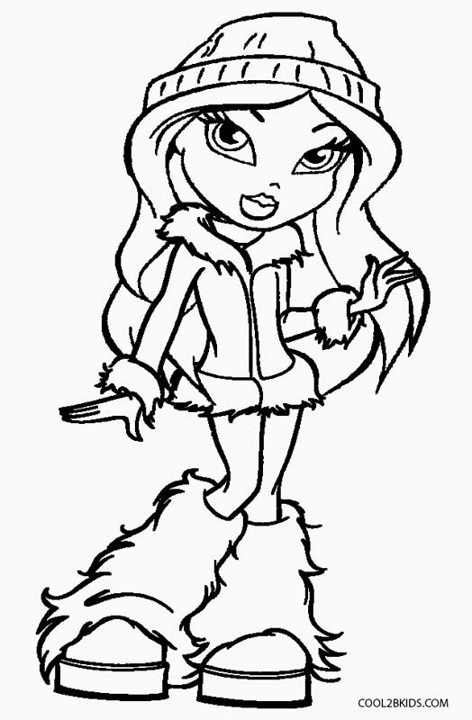 bratz coloring pages for free | Bratz Drawing at GetDrawings.com | Free for personal use ...