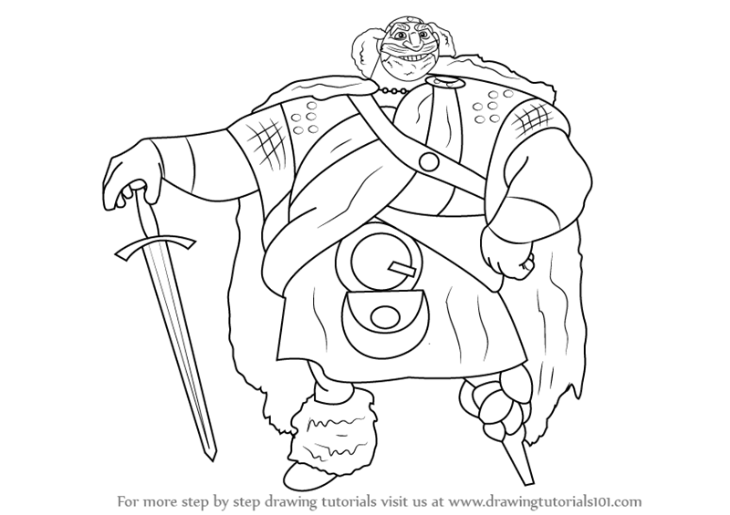 800x565 Learn How To Draw King Fergus Elinor From Brave (Brave) Step By