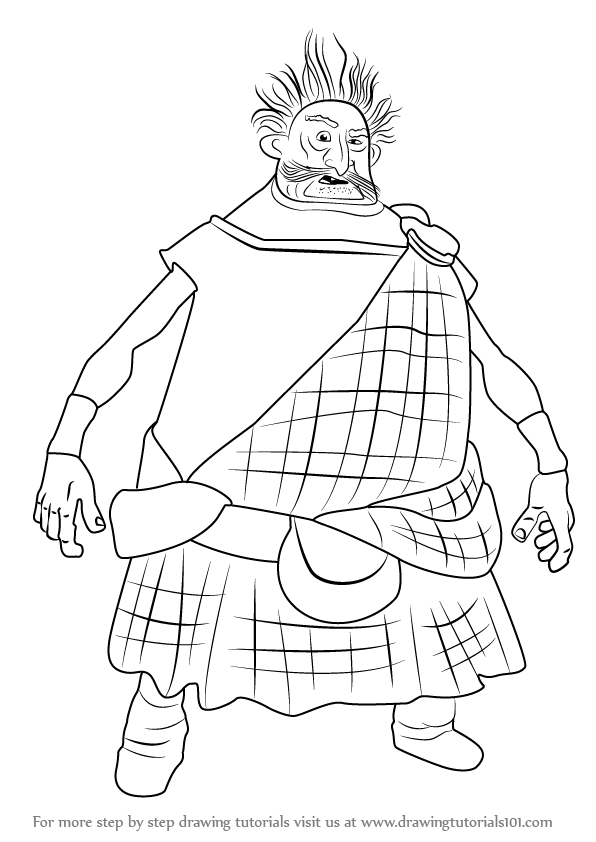 596x842 Learn How To Draw Lord Dingwall From Brave (Brave) Step By Step