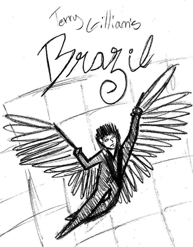 791x1011 Terry Gilliam's Brazil (Sketch) By Aloharr