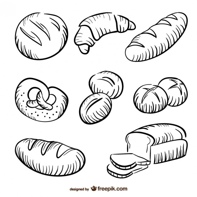 626x626 Bread Drawings Collection Vector Free Download