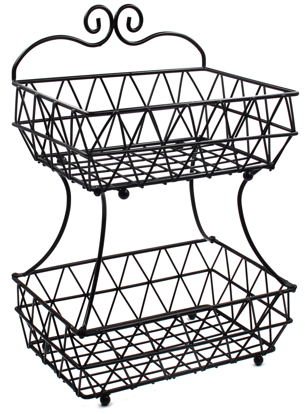 1030x1394 Esylife 2 Tier Removable Metal Bread Basket Fruit Baskets Stand