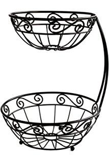 214x320 Spectrum Diversified Scroll Bread Basket, Black