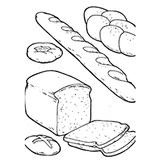 230x230 10 Yummy Bread Coloring Pages For Your Little One
