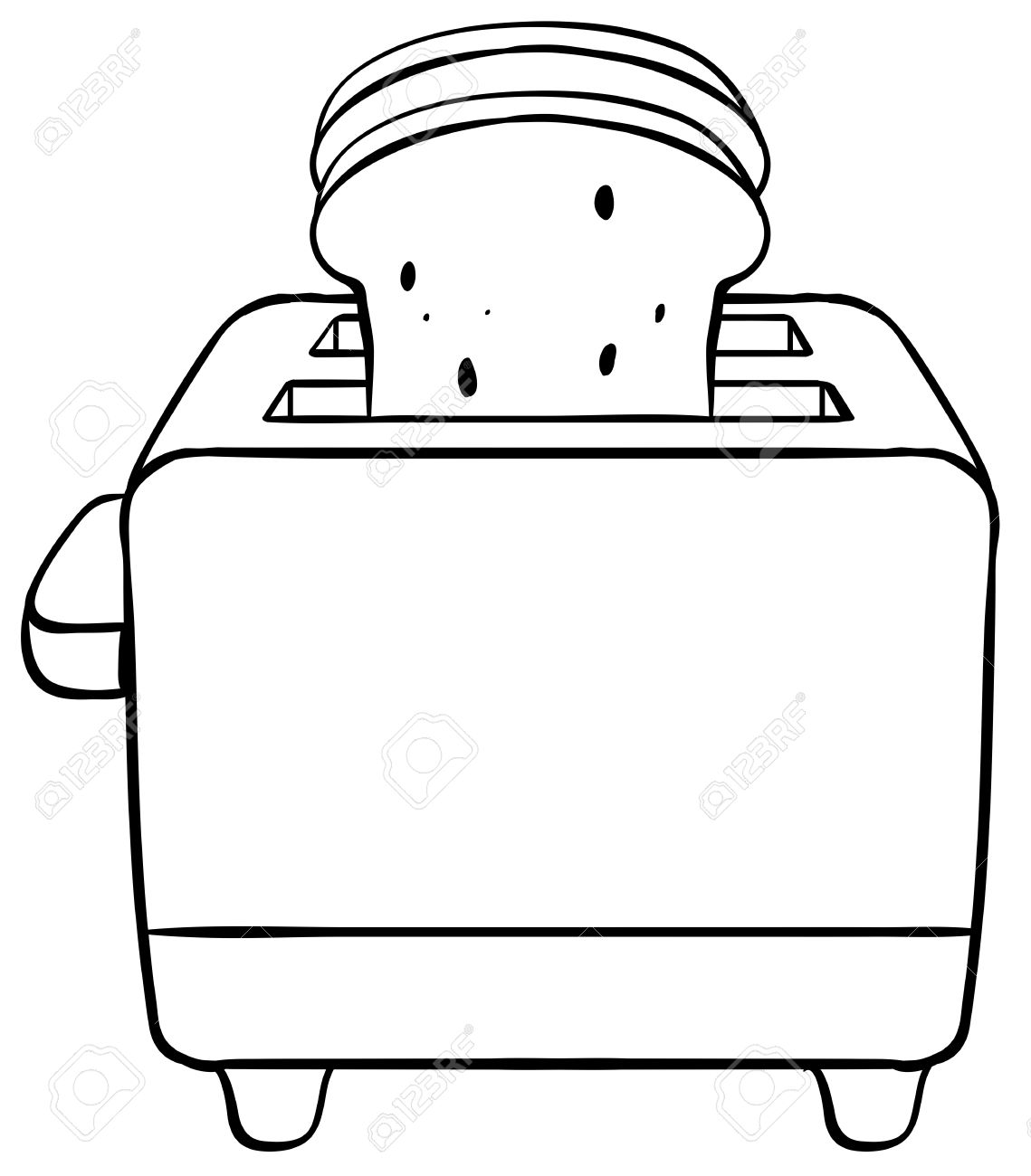 1139x1300 Close Up Electronic Toaster With Toasted Bread Royalty Free