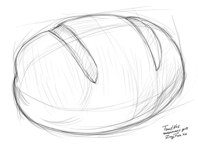 667x500 How To Draw Bread Step By Step