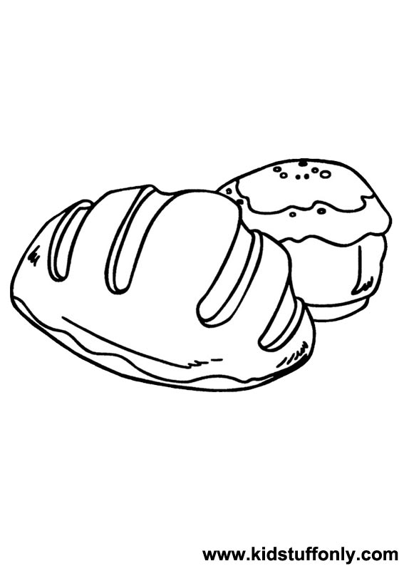 567x794 Bread Coloring Pages