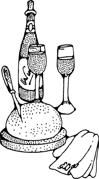 330x592 Wine And Bread Clip Art Free Vector In Open Office Drawing Svg