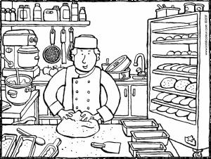 300x226 Baker Baking Bread