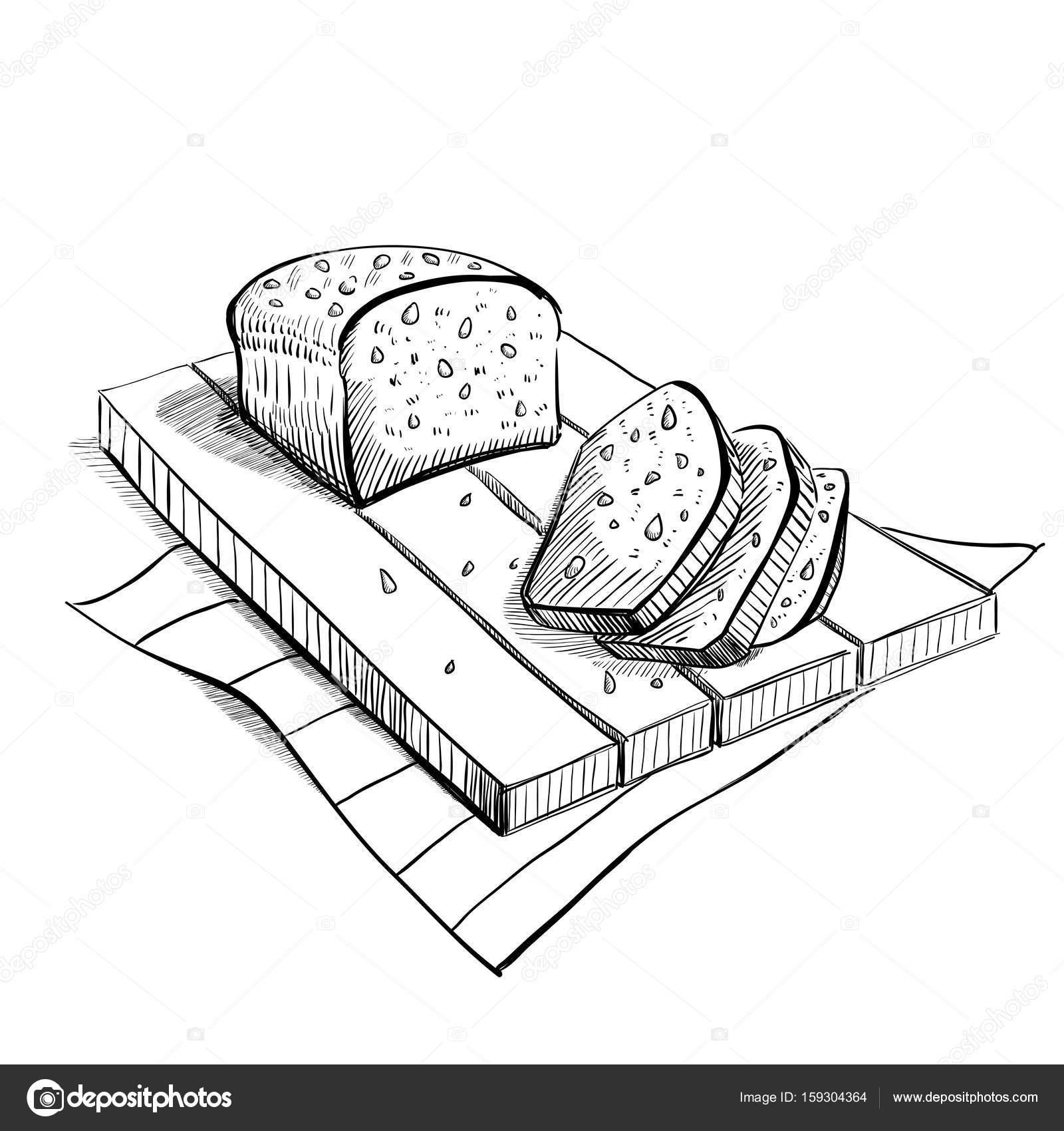 1600x1700 Bread Sketches, Hand Drawing, Vector Set Stock Vector Avd 88