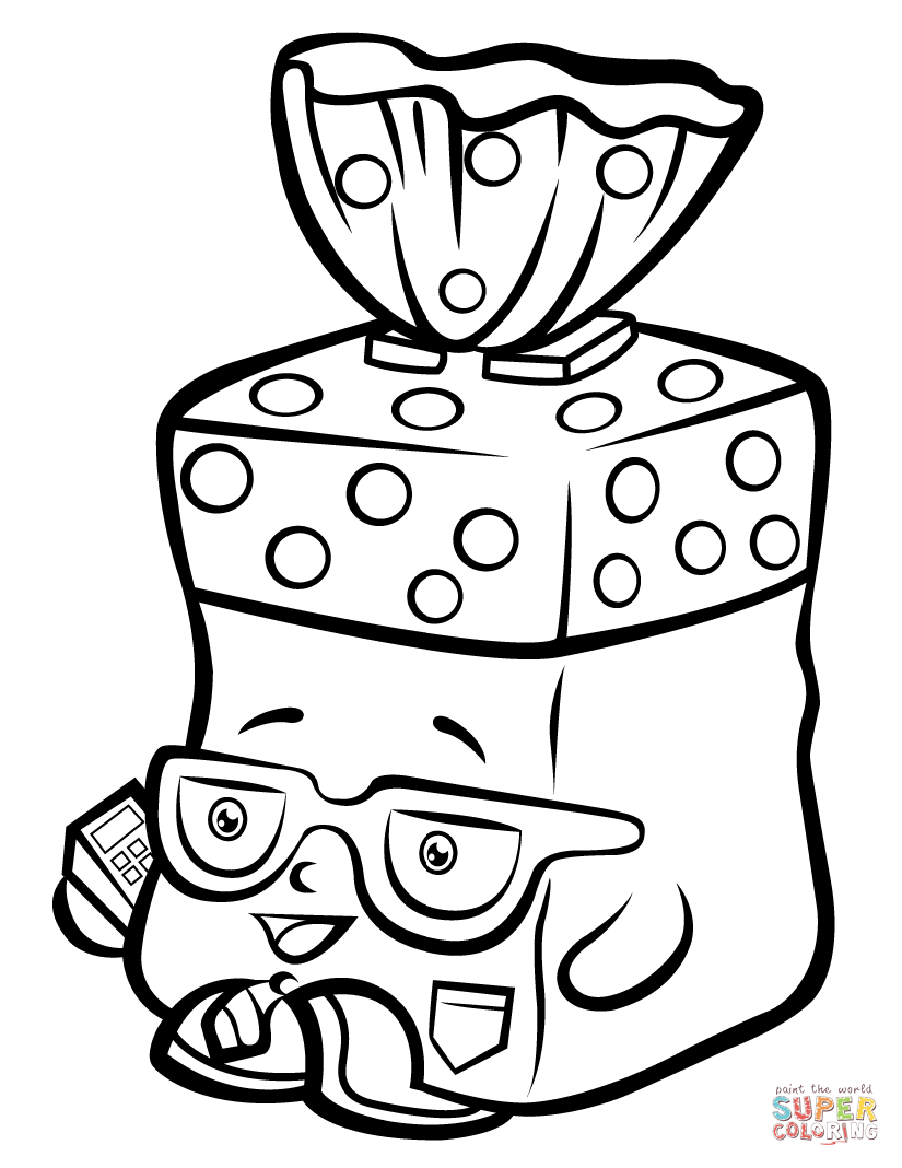 825x1068 Bread Head Shopkin Coloring Page Free Printable Pages