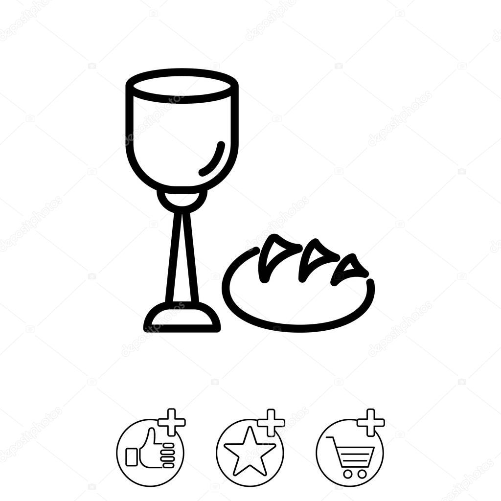 1024x1024 Bread And Wine Icon Stock Vector Ppvector