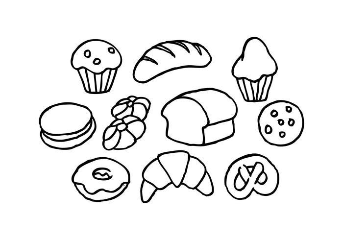 700x490 Free Bread Sketch Icon Vector