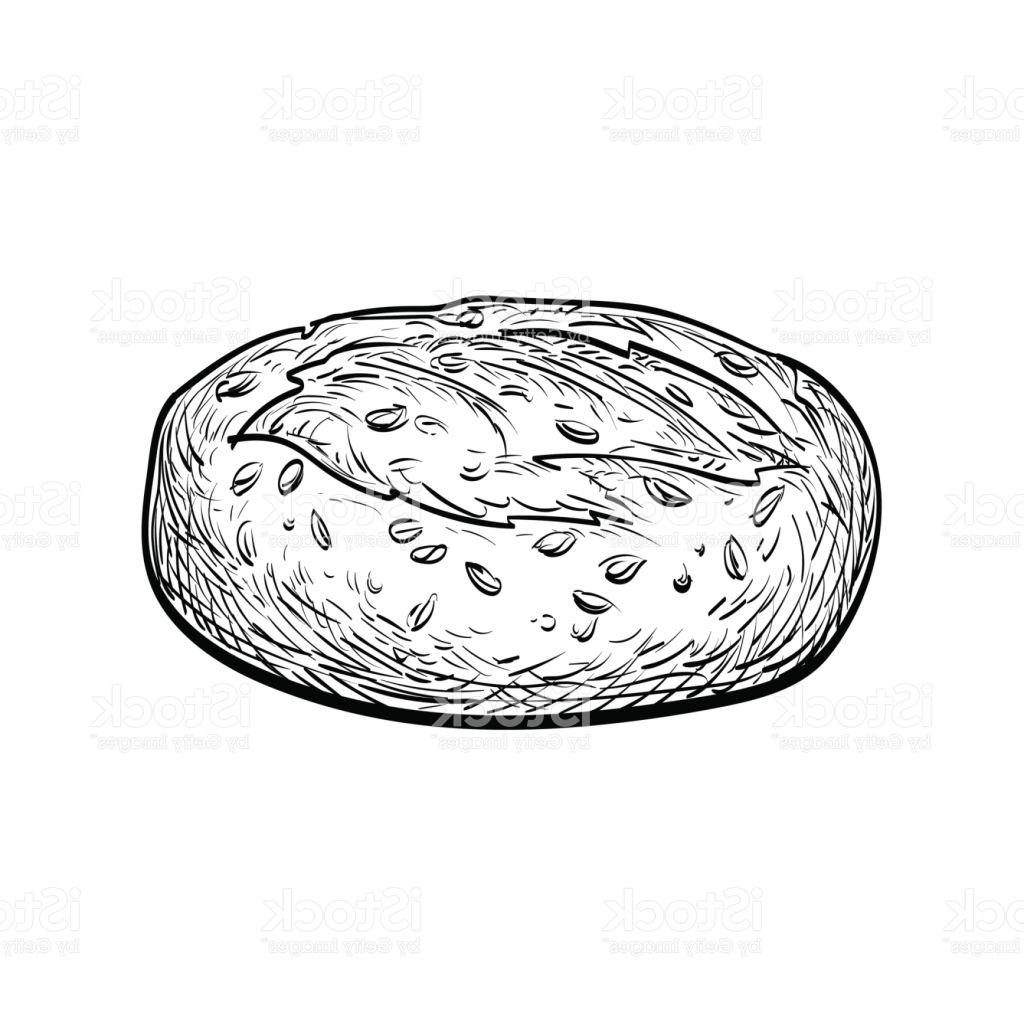 1024x1024 Hd Whole Grain Bread Vector Drawing