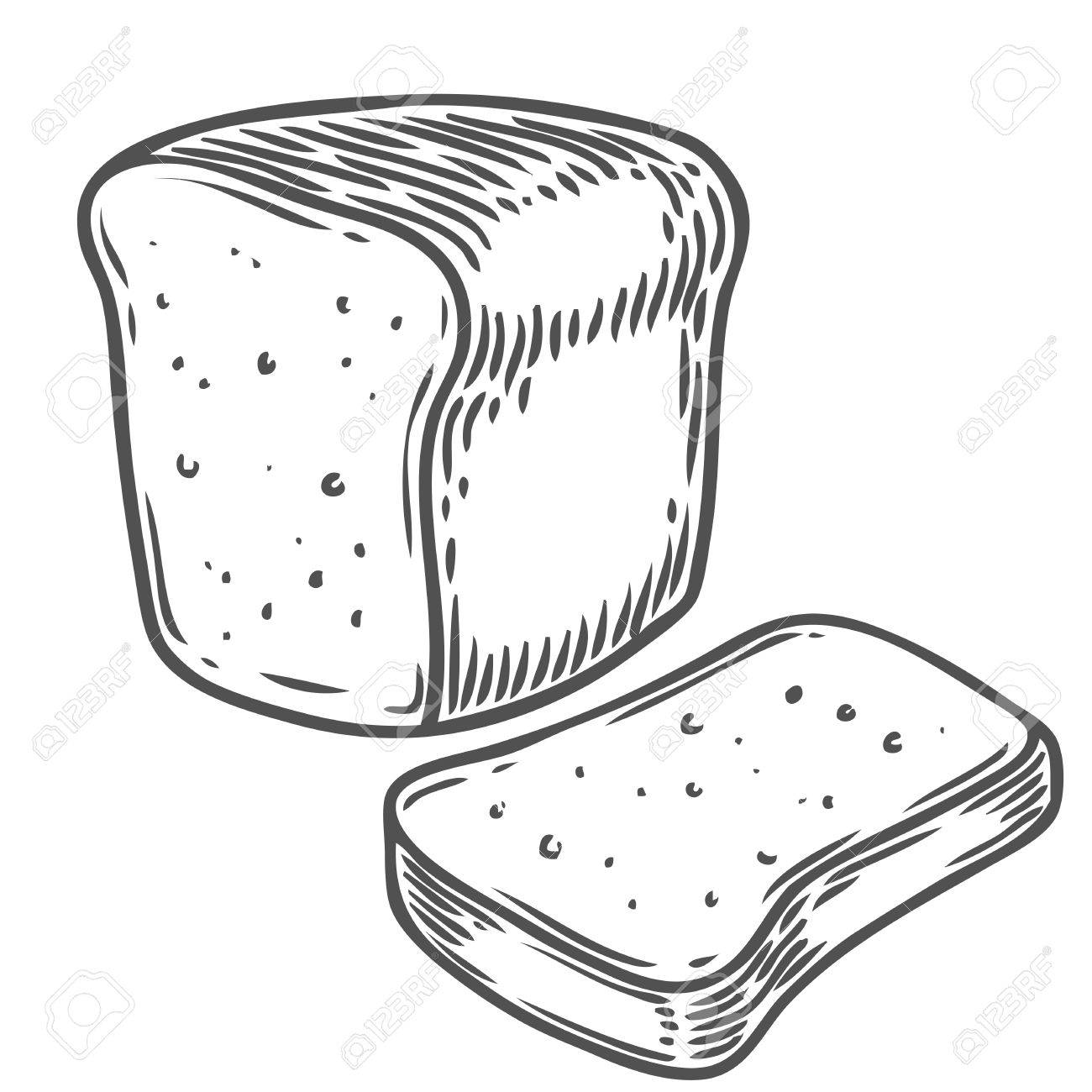 1300x1300 Wheat Bread Drawing