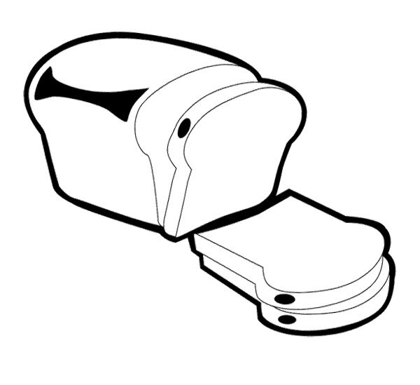 600x549 White Bread Coloring Pages