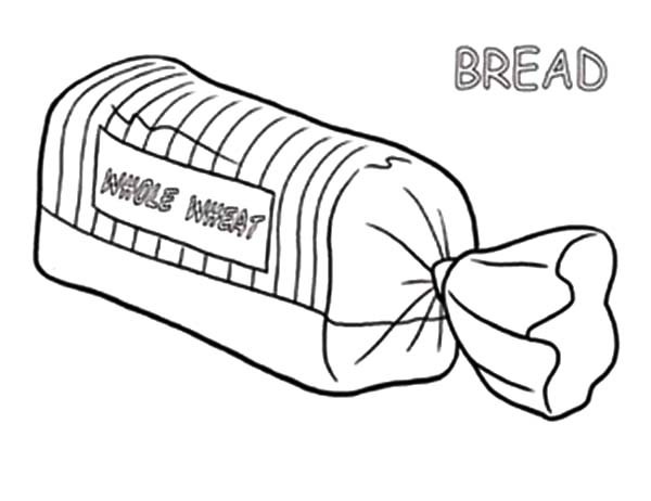 600x462 Loaves Of Bread Coloring Pages Loaf Of Bread Coloring Pages