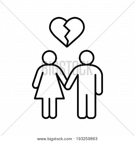 450x470 Lovers Breakup Linear Icon. Vector Amp Photo Bigstock