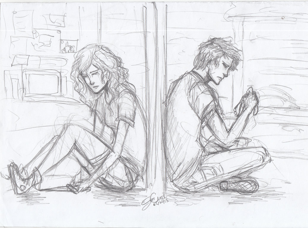 1038x769 Sketch Of Boy And Girl Breakup Love Breakup Couples Photos