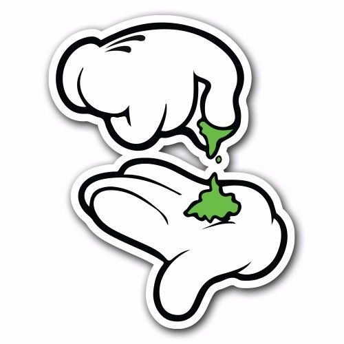 500x500 Break Up White Sticker Bomb Decal Roll Weed Car Macbook Laptop Jdm