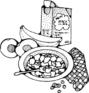 288x300 Breakfast With Cereal Clip Art