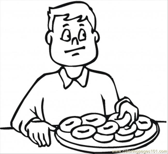 650x595 Eating Breakfast Before School Coloring Page