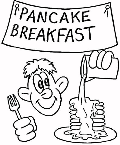 396x480 Pancake Breakfast Coloring Page Free Printable Coloring Pages
