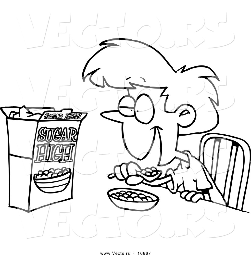 1024x1044 Drawings Of Kids Eating Breakfast Eat Breakfast Cartoon Craft