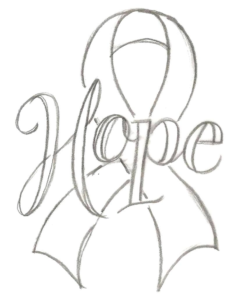 849x1024 Coloring Breast Cancer Ribbon Coloring Page