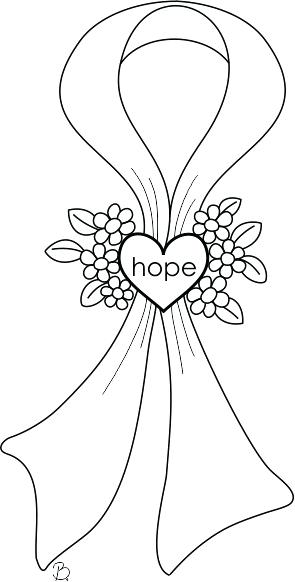 295x582 Breast Cancer Ribbon Coloring Page Cancer Awareness Coloring Pages