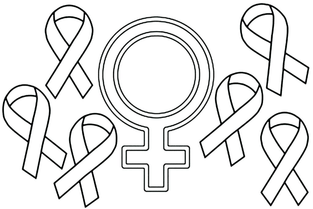 1024x684 Cancer Ribbon Coloring Page Breast Cancer Ribbon Coloring Page