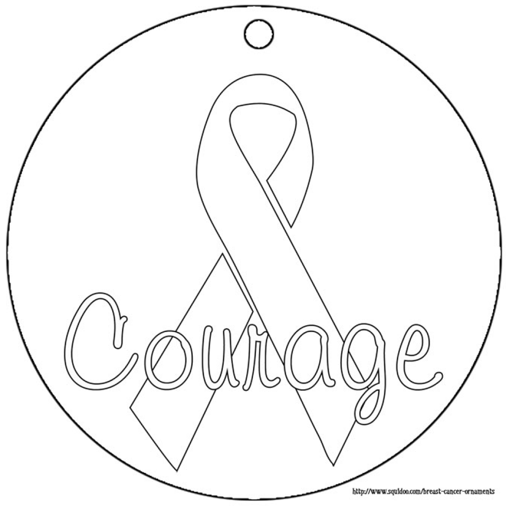 pink ribbon coloring pages - breast cancer ribbon drawing at free for