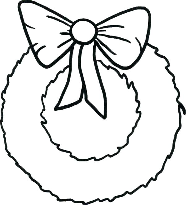 600x663 Ribbon Coloring Page As Ribbon Coloring Page Simple Wreaths