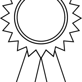 268x268 Ribbon Coloring Pages