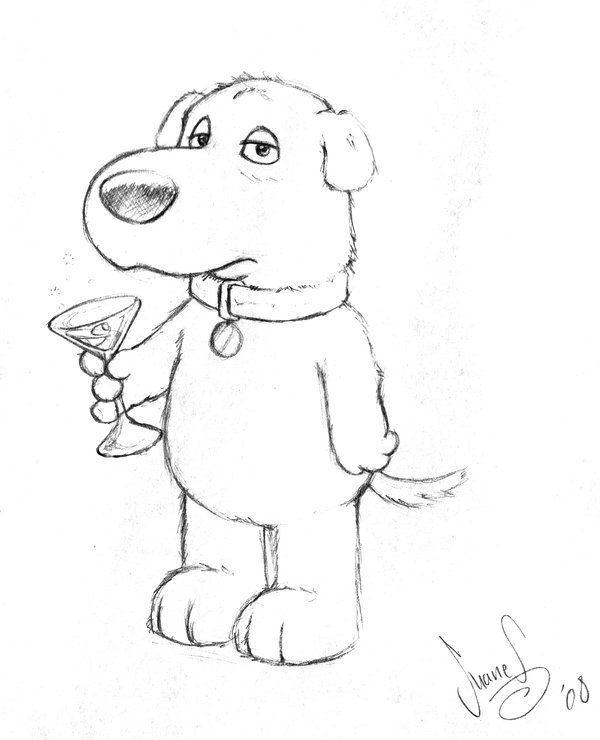 Brian Griffin Drawing