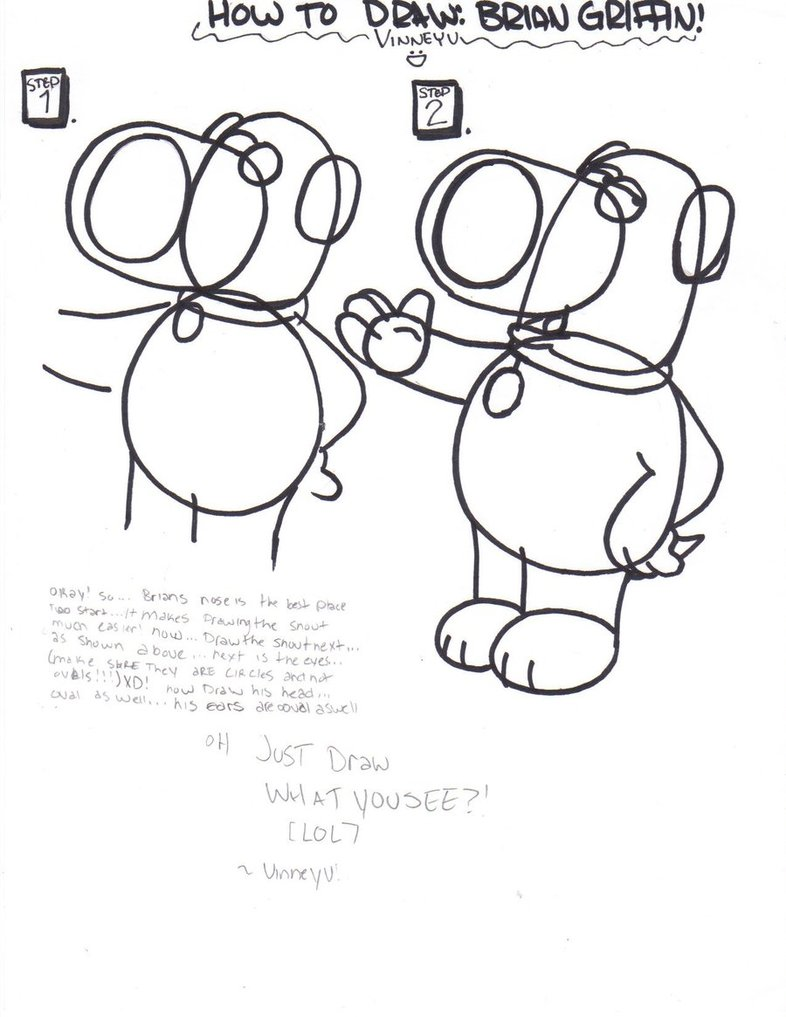 786x1017 How To Draw Brian Griffin P1 By Vinneyv