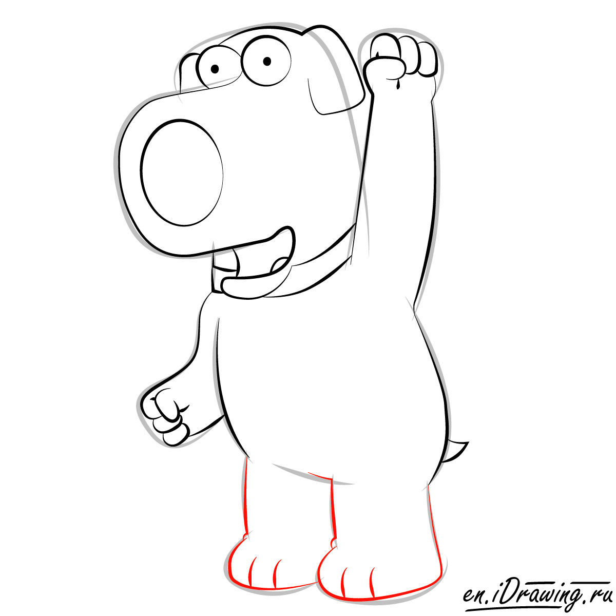 1200x1200 How To Draw Brian Griffin