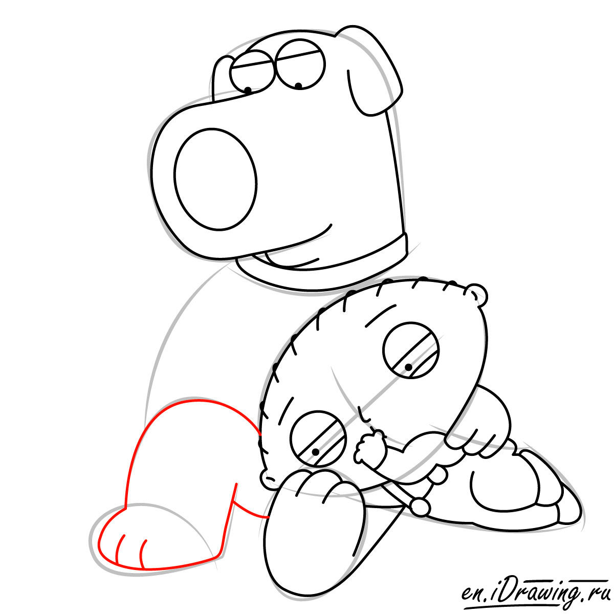 1200x1200 How To Draw Stewie And Brian Griffin