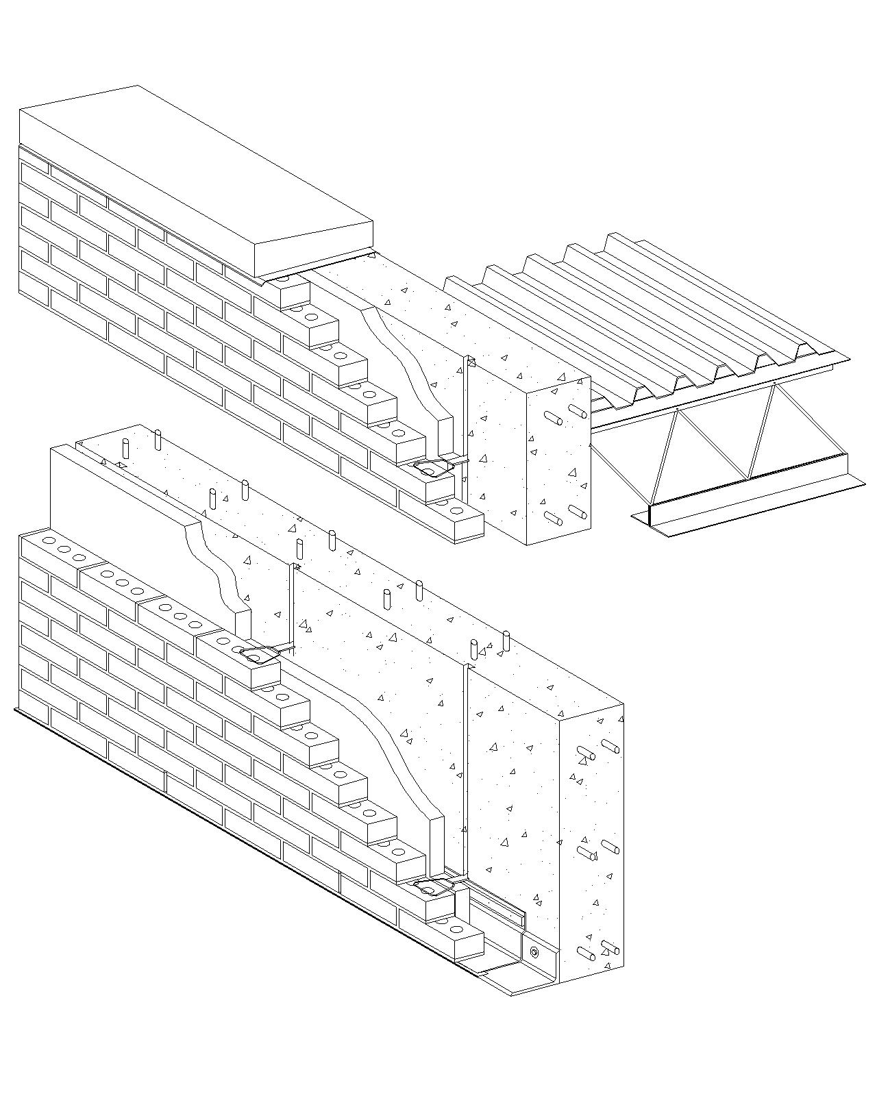 1280x1600 Cavity Wall Brick Veneerreinforced Cast In Place Concrete
