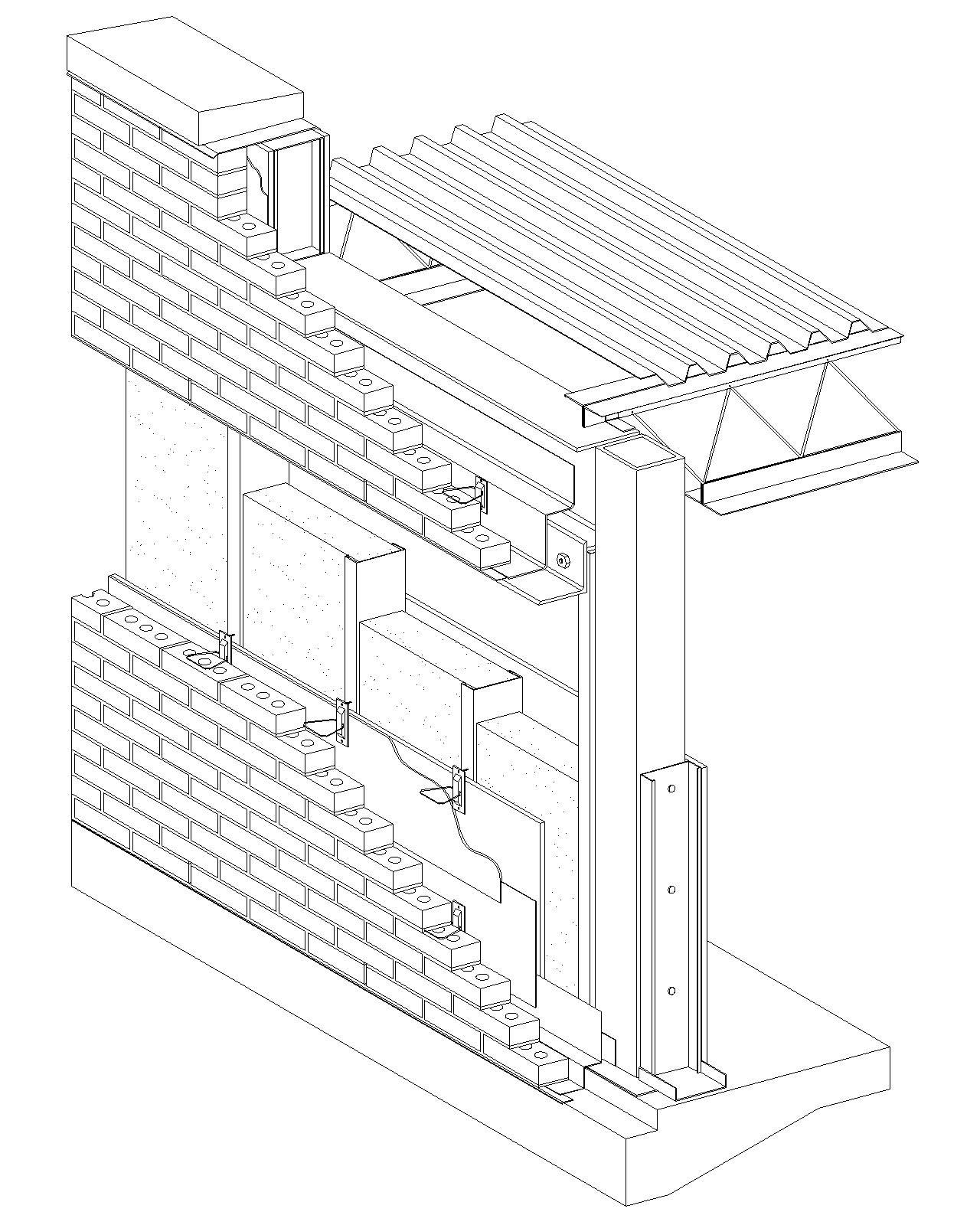 1280x1600 Cavity Wall Brick Veneersteel Stud