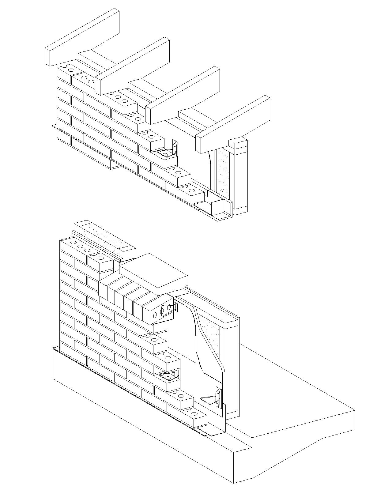 1280x1600 Cavity Wall Brick Veneerwood Stud