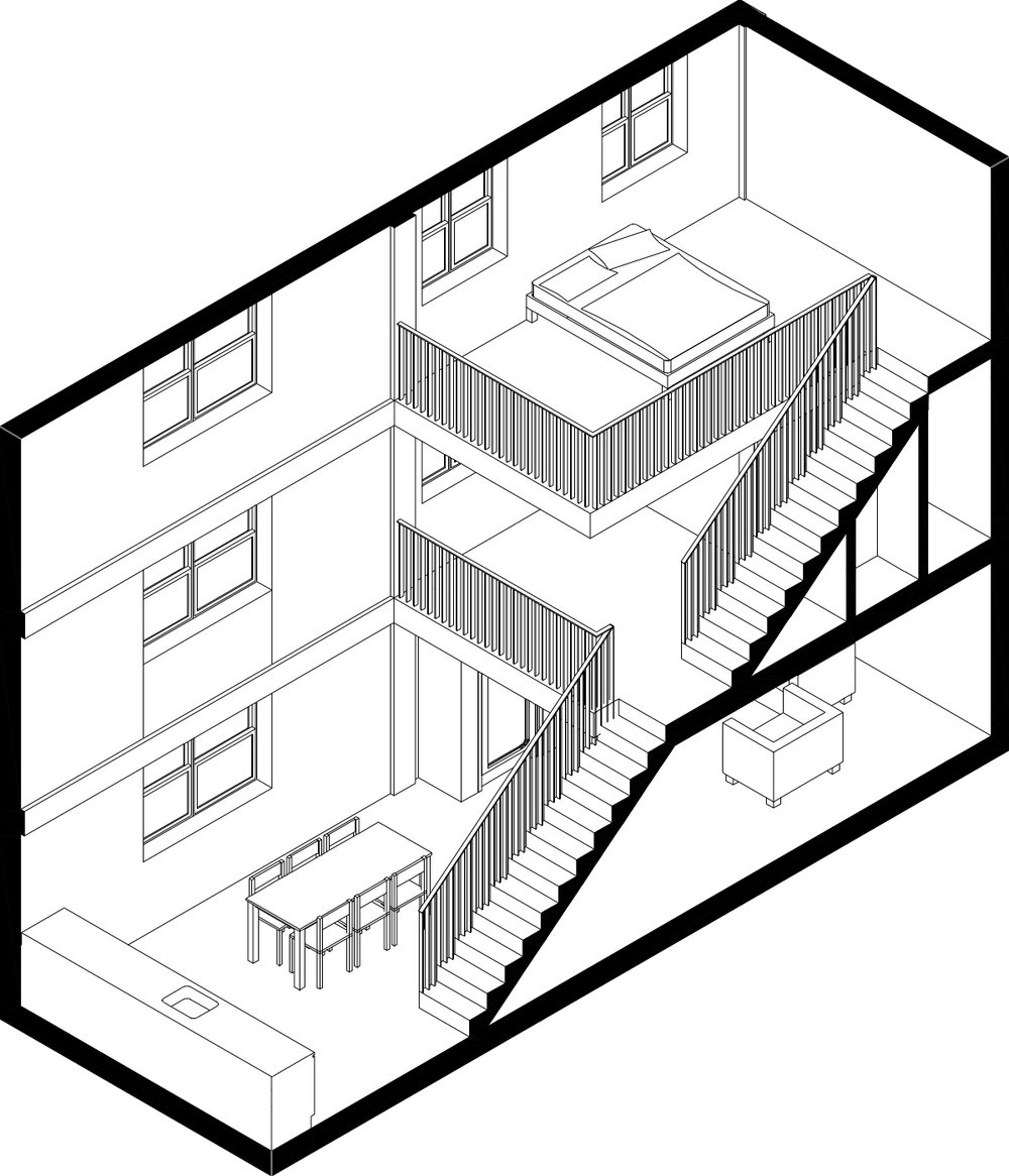 1000x1166 Marcy Houses Spatial Art And Construction