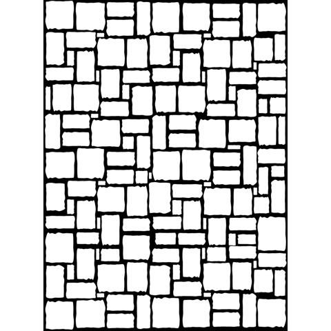 480x480 Brick Wall Pattern Embossing Folder Embossing Essentials