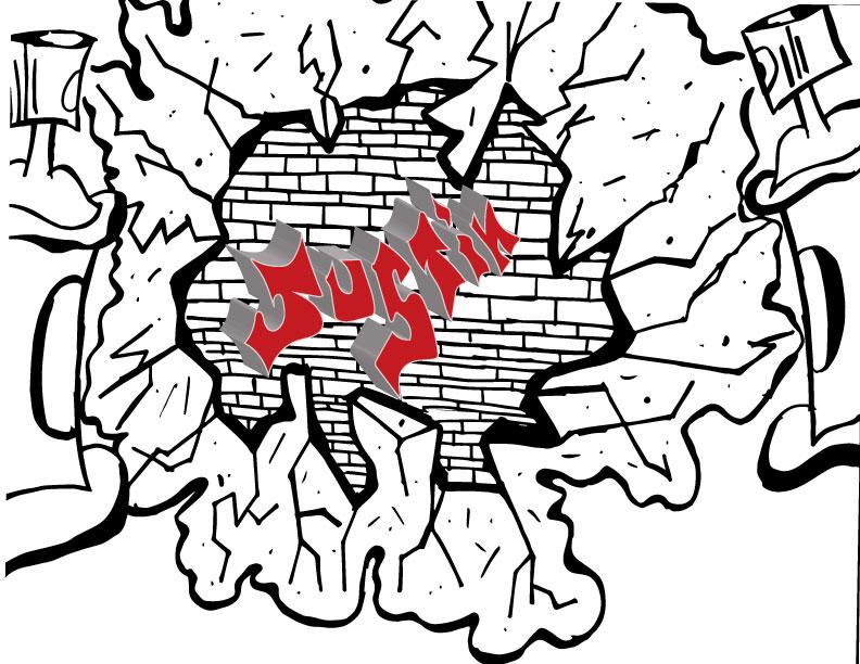 792x612 Brick Wall Drawing By Jdawes01
